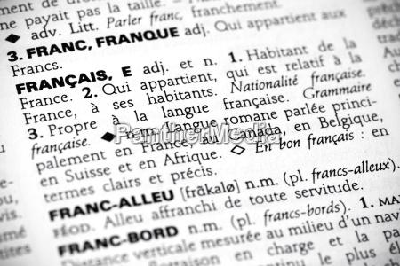 palavra linguagem frances dicionario referencia definicao