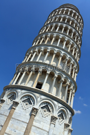 looking up at the leaning tower