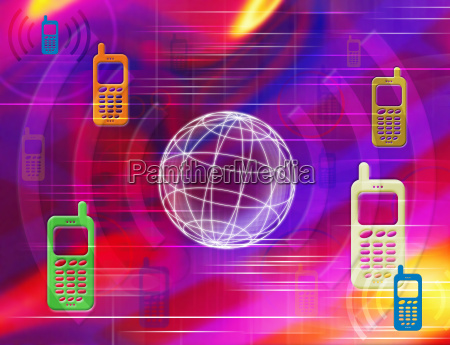 os telefones moveis ilustracao