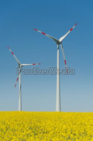 rodas do vento em um campo