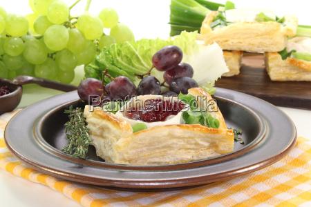 tortinhas de queijo de cabra