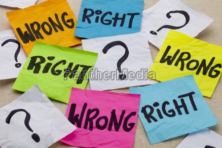 pergunta etica errada ou correta