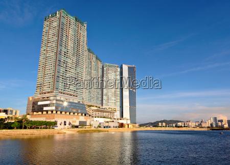 azul torre cidade horizonte asia turismo