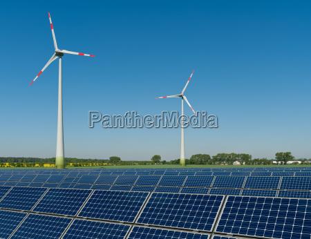 modulos solares e turbinas de vento