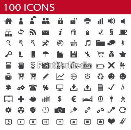 100 icones