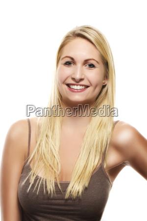 mulher belo agradavel face retrato cabelo