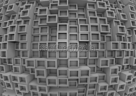 parede abstrata do cubo