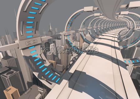 ponte futurista da cidade