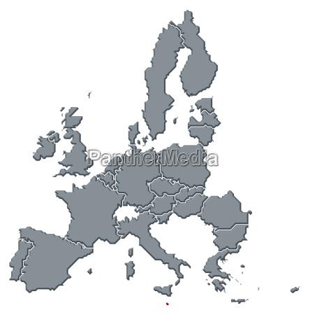 map of the european union malta