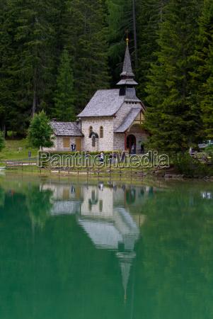 chapel at the pragser wildsee