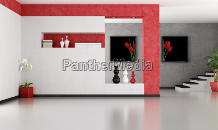 vazia minimalista sala de estar