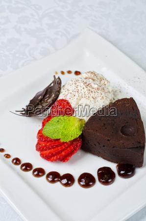 restaurante alimento objeto doce closeup marrom
