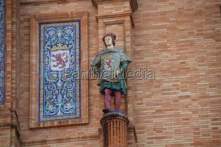estatua leao gato espanha andaluzia sevilha