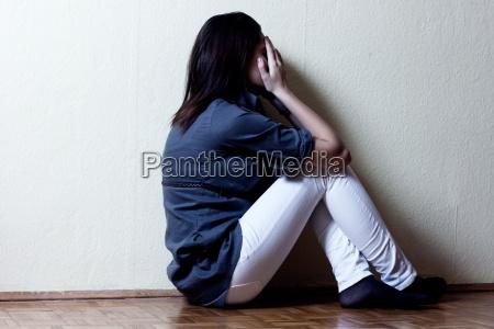 menina de tenness deprimido