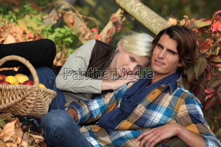 pares que sentam se nas folhas