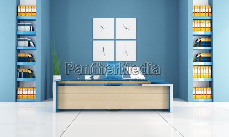 escritorio azul contemporaneo