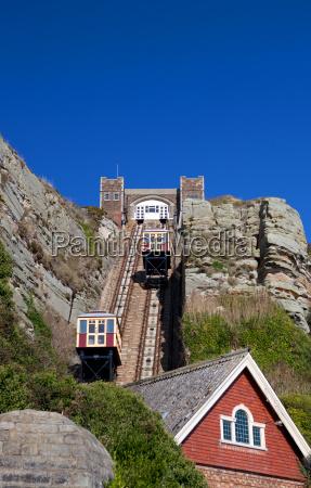 trem veiculo transporte elevador topo inglaterra