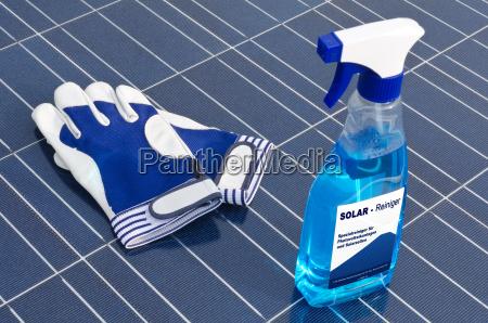 limpo celula solar limpeza limpador luvas