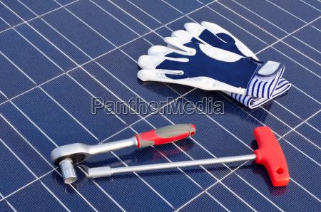 ferramenta celula solar squeaky roquete luvas
