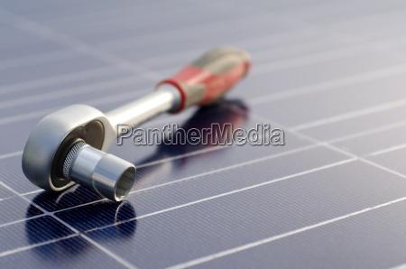 celulas solares e catraca