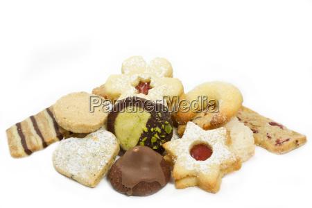 selecao de biscoitos de natal