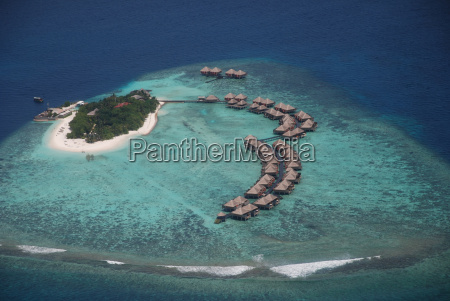 maldives aerial view island