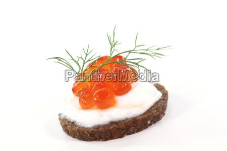 caviar pao integral pumpernickel endro