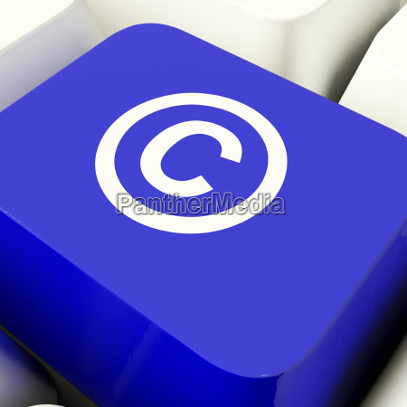 chave do computador dos direitos reservados