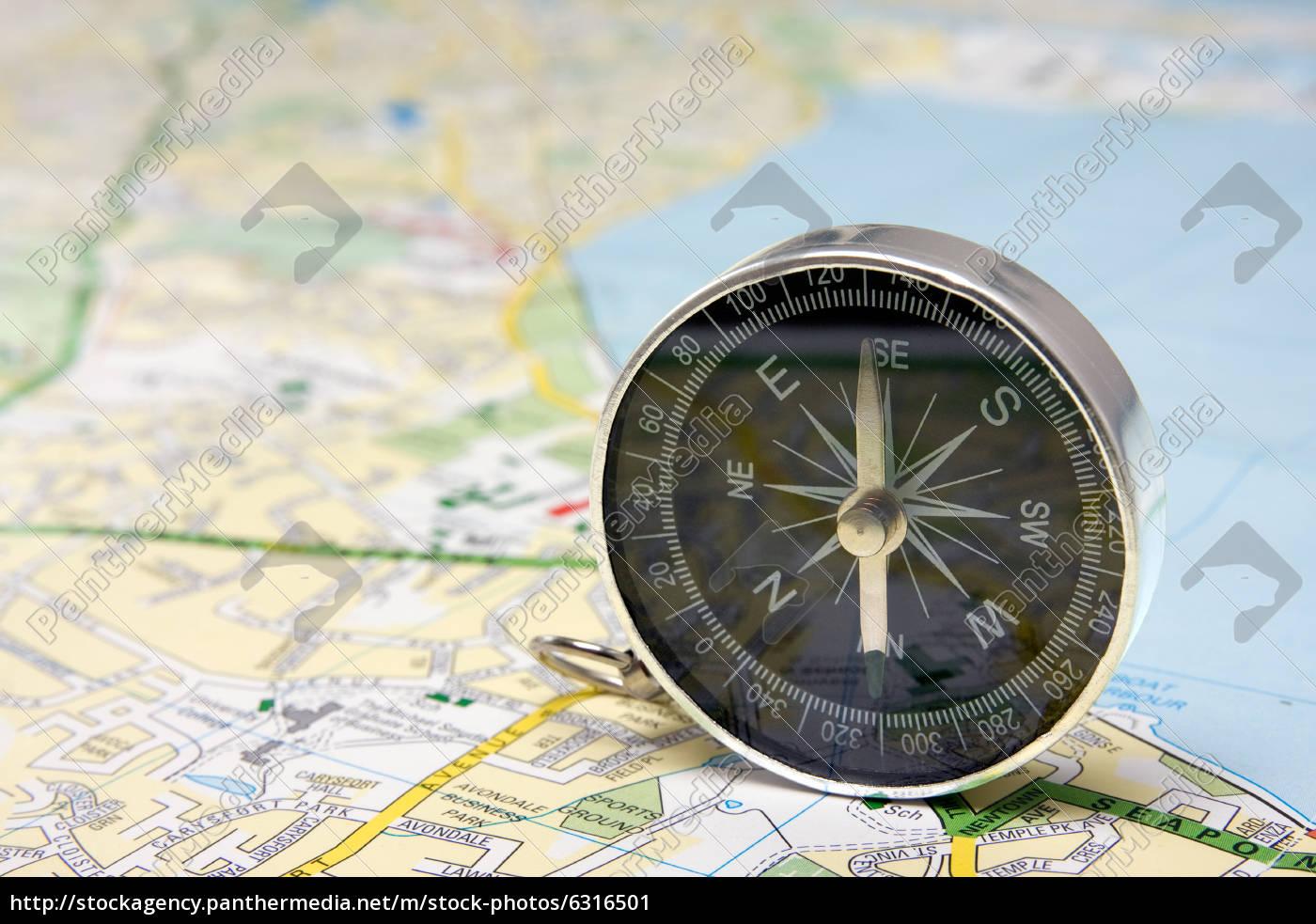 compass, on, dublin, city, map - 6316501