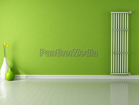 interior parede refrigerador vazio strahler radiador