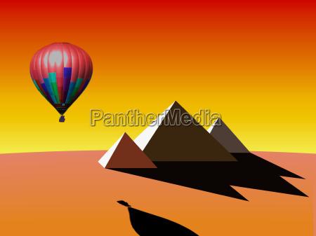grafico piramide ilustracao balao balao de
