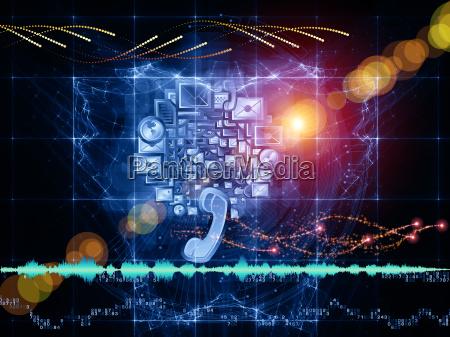 sinal telefone azul cor projeto grafico