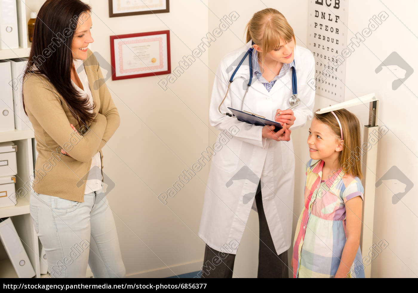 check-up, médico, em, pediatrist, altura, medida - 6856377