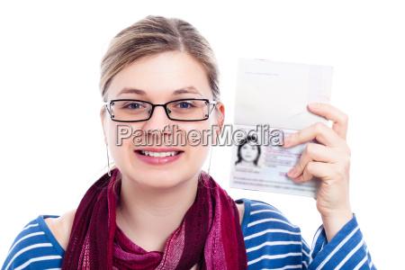 mulher de viajante feliz turista com