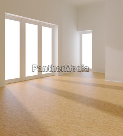 esvazie o quarto branco com indicador