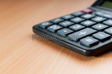 conceito de negocio com calculadora contabilidade