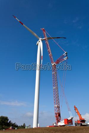 ambiente industria estacao de energia eolica