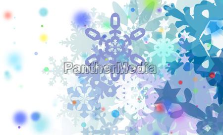 cristais de neve de inverno grafico