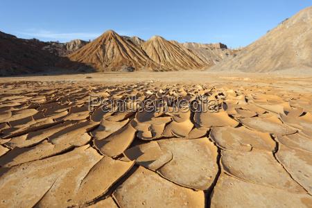 cracked soil in the desert