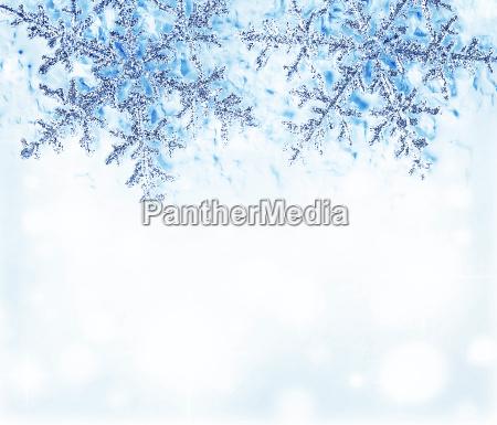 beira decorativa azul do floco de