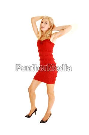 mulher liberado em pe isolado formacao
