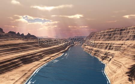 raio de sol rocha desfiladeiro montanha