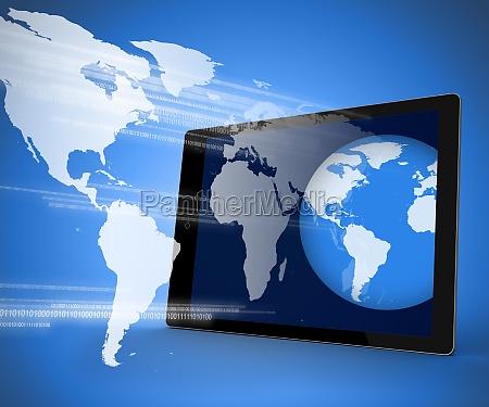 azul grafico eletronica ilustracao em pe