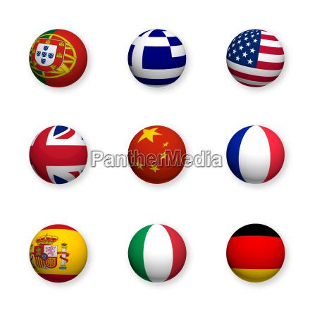 linguas estrangeiras simbolos