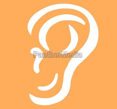 opcional orelhas ilustracao orgaos dos sentidos