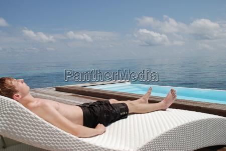 relax rattan lounge chair polyrattan