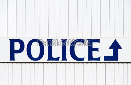 azul sinais inglaterra belgica policial cidade