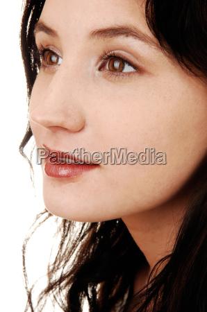 mulher liberado closeup retrato em pe