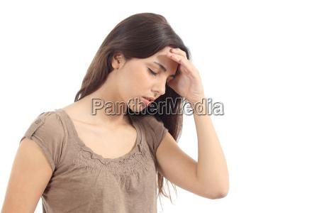 mulher, com, uma, dor, de, cabeça - 8705232