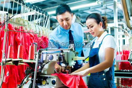 fabrica textil qualidade tecido equipamento trabalhadores